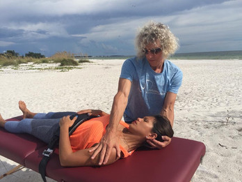 Lateral cervical flexion for scalenes, l