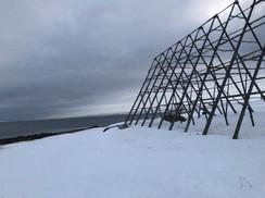 Fish Drying Rack  Nesseby, Norway