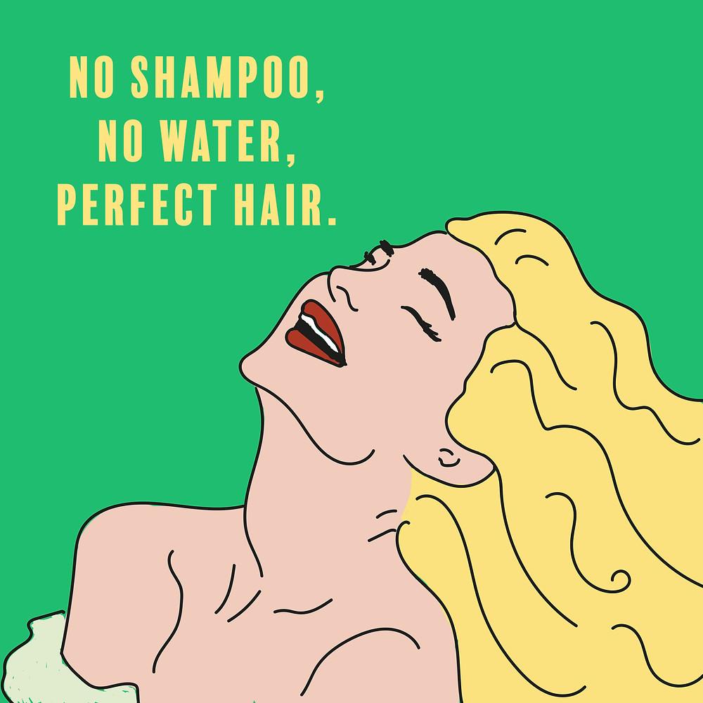 donna lavandosi i capelli senza acqua, capelli perfetti, trucchi, #consigli #guida #lifestyle #domandeerisposte #beauty