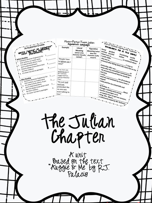 The Julian Chapter-Comprehension Activities