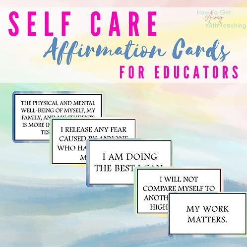 Teacher Self Care Affirmations