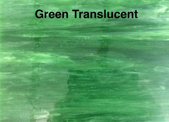 Opalescent green translucent
