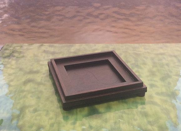 Wooden base to compliment square Terrarium