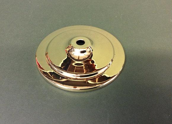 Polished brass vase cap 113mm