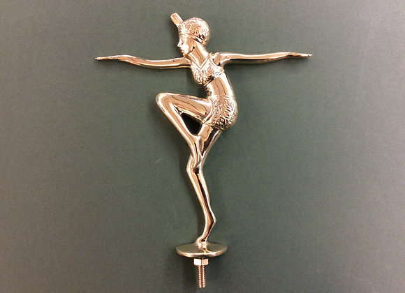 Flapper Figure Polished Brass
