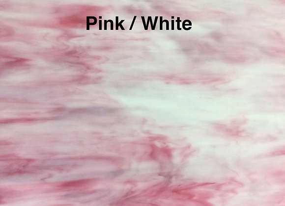 Opalescent pink white
