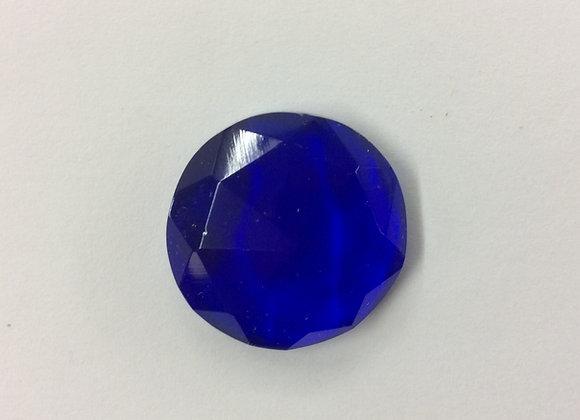 Dark blue faceted polished jewel 23mm