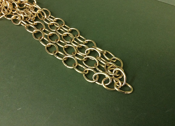 Brass Oval link chain 22mm links sold per Metre