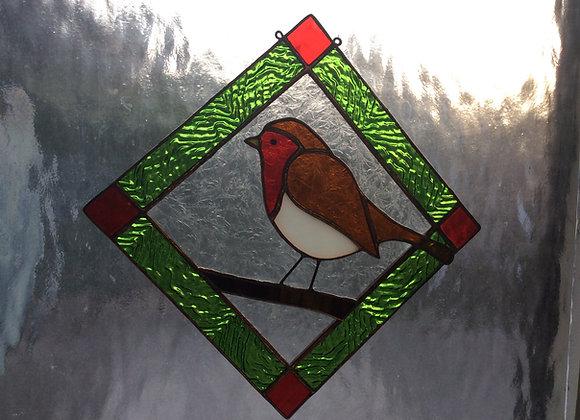 Pattern for Robin sun catcher