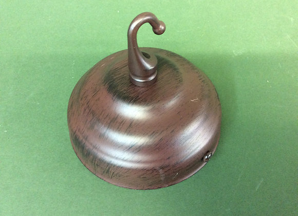 Ceiling plate with hook Antique finish