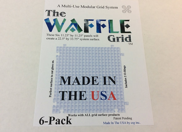 The Waffle grid system 6 pack