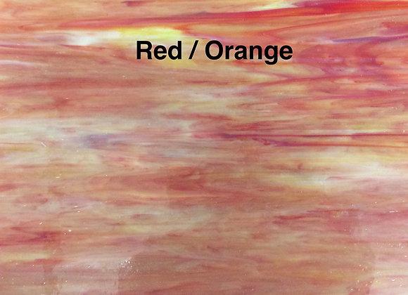 Opalescent red orange