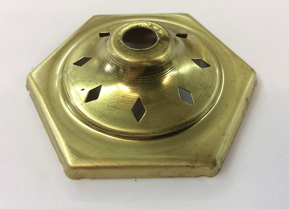 Six sided brass vase cap 75 mm vented
