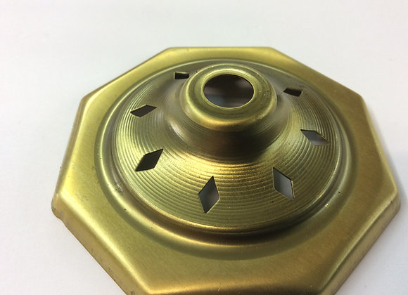 8 Sided Brass Vase Cap 80mm Vented