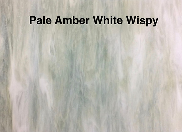Opalescent pale amber wispy white