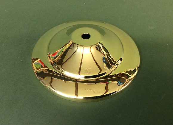 Polished brass vase cap 137mm