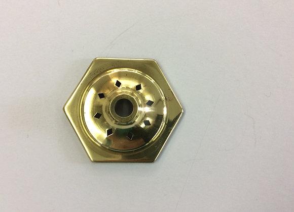 Hexagon vase cap brass