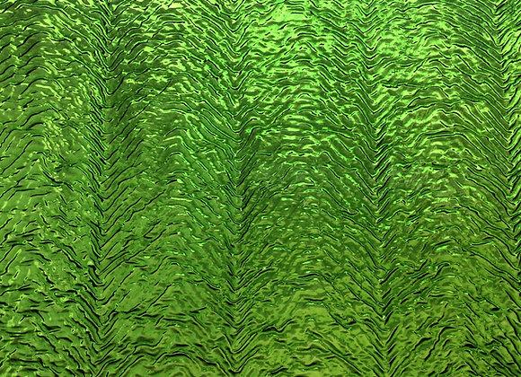 Green Herringbone Cathedral glass