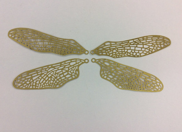 Brass filigree Dragon fly wings two sets of four