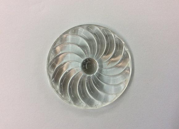 Clear Swirled Rondel 50mm