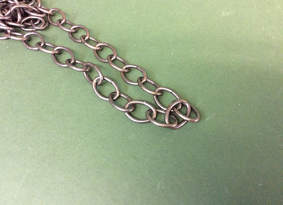 Antique Oval link chain 22mm links sold per Metre