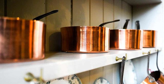 Jelly moulds and Copper Saucepans.jpe