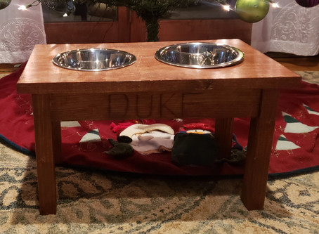 DIY Simple Dog Bowl Stand: Woodworking with the Gals
