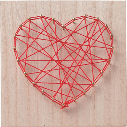 Sat. 02/13-Heart String Art