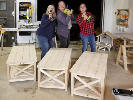 DIY Simple Coffee Table: Woodworking with the Gals.