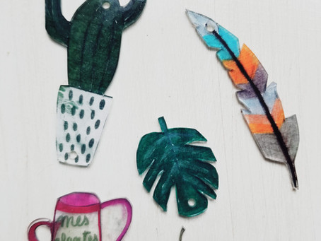 DIY Simple Jewelry: Shrinky Dinks with Kids