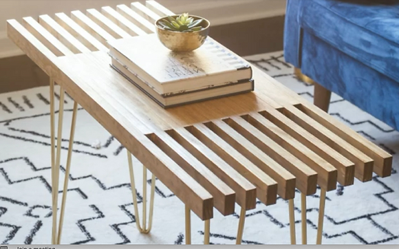 Sat. 3/6 -Modern Coffee Table