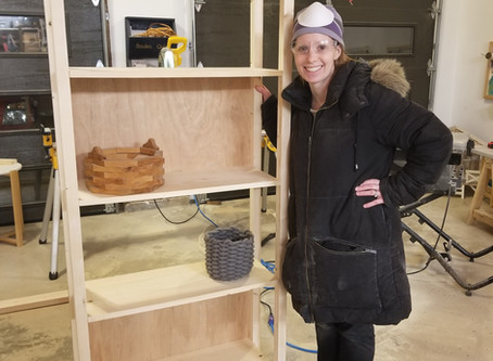DIY Simple Industrial Bookshelf: Woodworking with the Girls