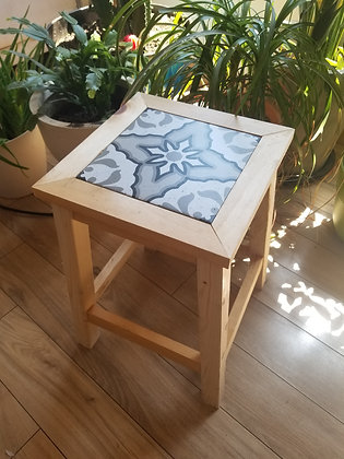 Stool with tile-Sat.12/12