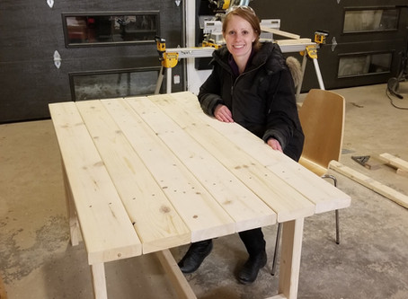 DIY Simple  Dining Room Table: Woodworking with the girls