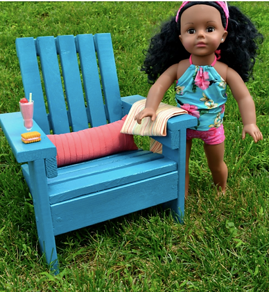 Sat.05/15- Adirondack Chair for 18 in. Dolls