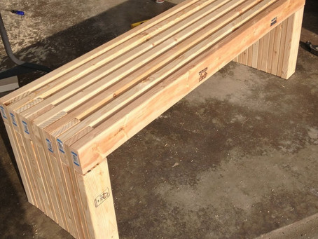 DIY Simple Modern Bench: Woodworking with the Girls