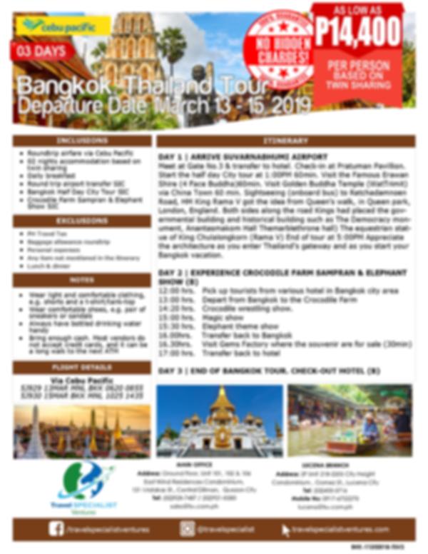 3D BANGKOK TOUR - ALL IN (Mar 13-15, 2019)