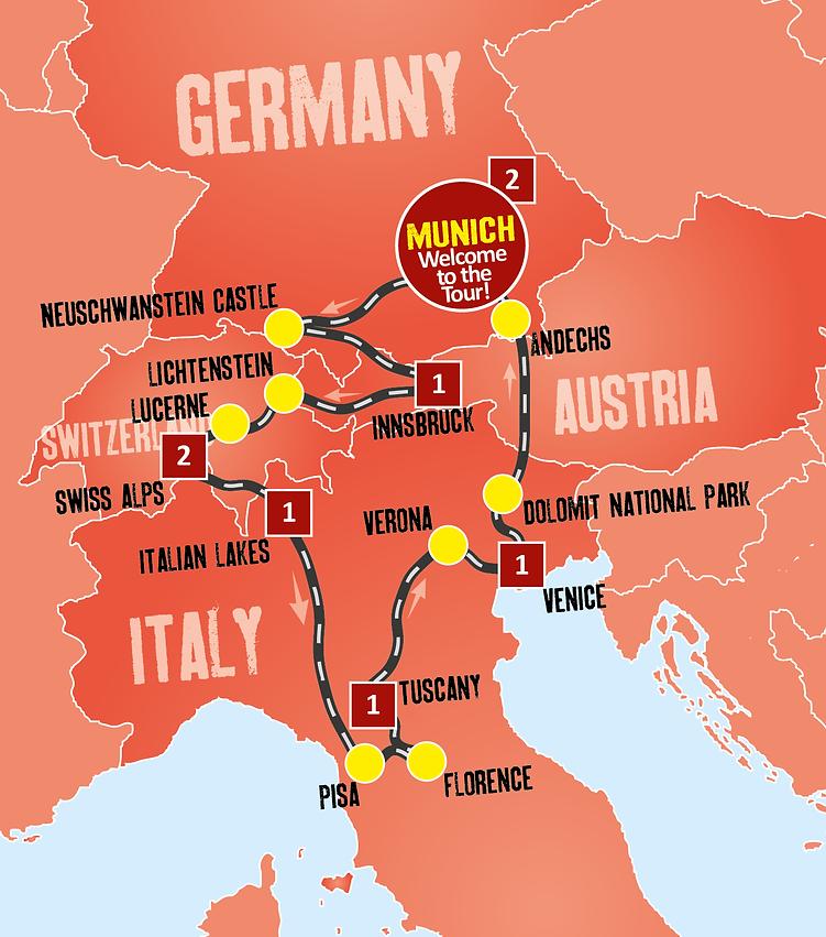 9D Scenic Europe Tour Travel Specialist Ventures