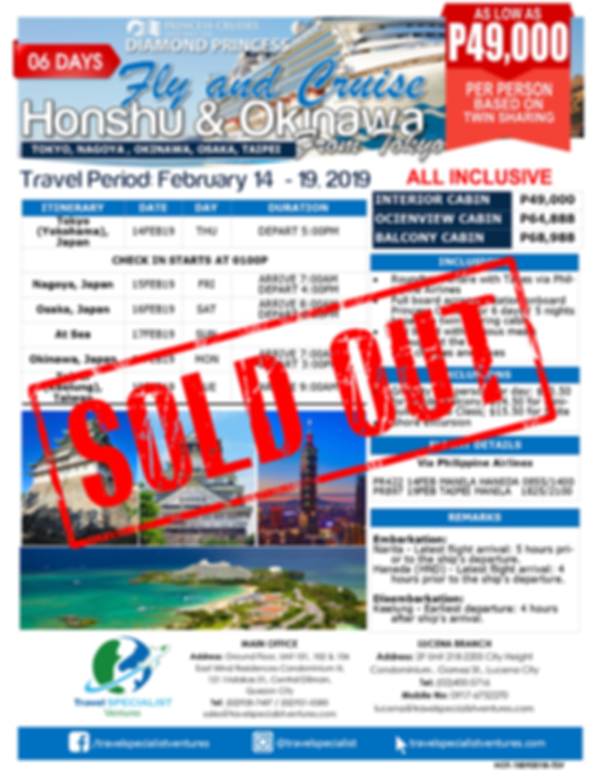 """Fly & Cruise"" Honshu & Okinawa Cruise from Tokyo"