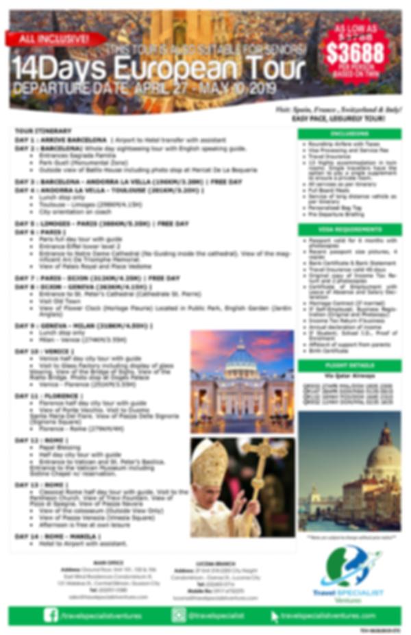 EUROPEAN TOUR - ALL-IN