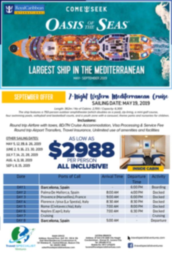 Oasis of the Seas September Offer