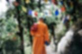 monk-walking-near-buntings-during-day-75