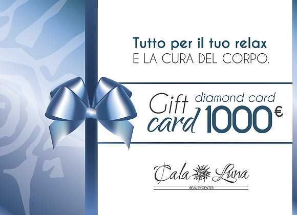 "Gift card ""DIAMOND"" 1000€"