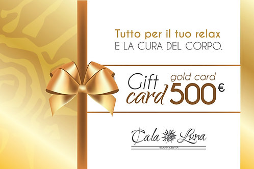 "Gift card ""GOLD"" 500€"