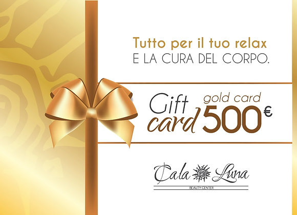 """Gift card """"GOLD"""" 500€"""