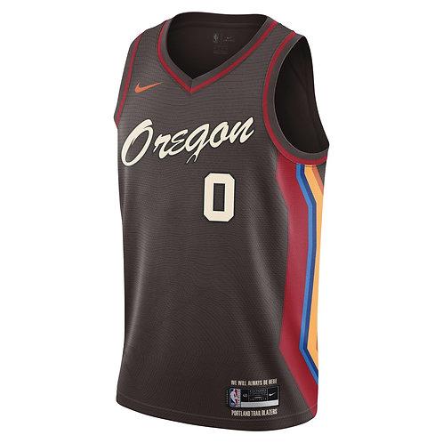 Nike NBA Blazers 19-20 City Edition Damian Lillard Swingman Jersey