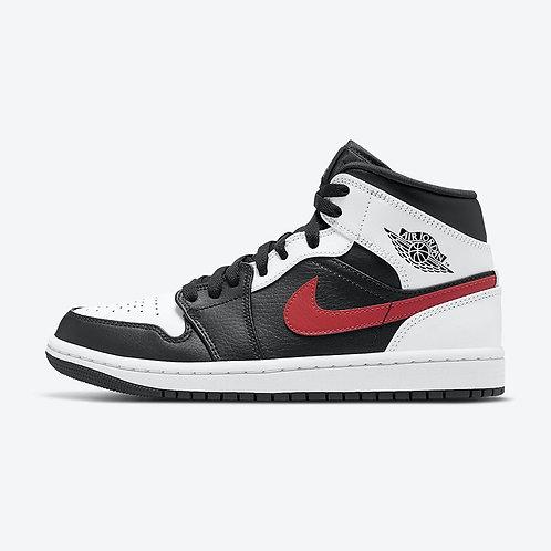 "Air Jordan 1 Mid ""Black White Red"""