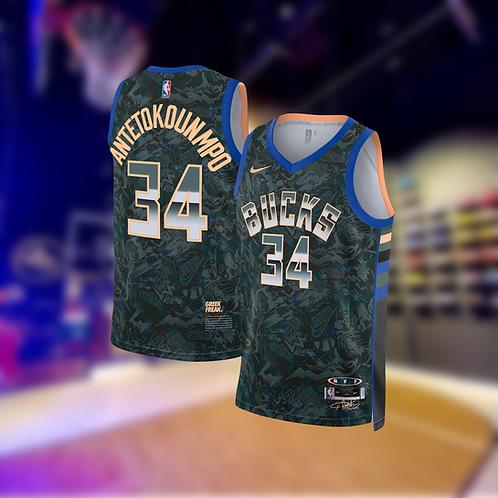 Nike NBA Bucks Select Edition Giannis Antetokounmpo Jersey
