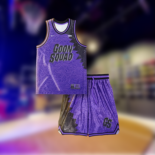 Nike Space Jam Goon Squad Jersey and Shorts