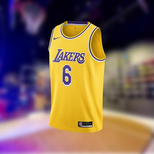 Nike NBA Lakers Icon Edition LeBron James #6 Swingman Jersey